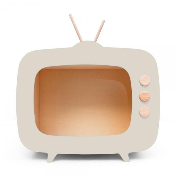 AHŞAP RETRO TV / BEJ