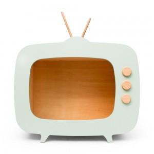 AHŞAP RETRO TV / MINT