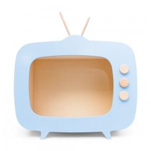 AHŞAP RETRO TV / MAVİ